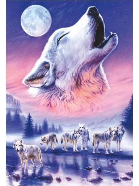 500 элементов пазл Волки