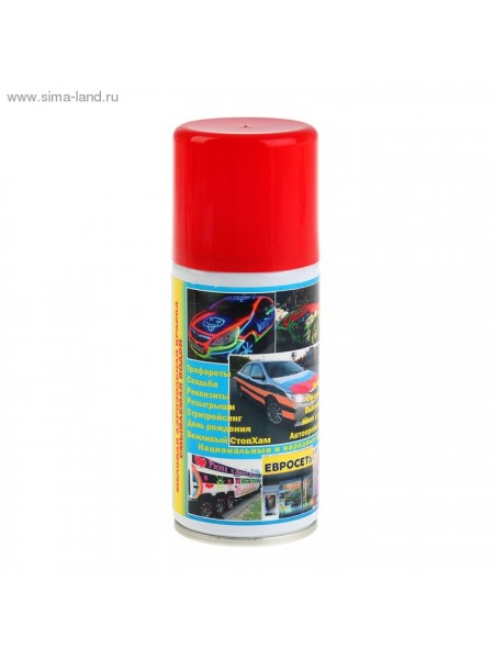 Меловая аэрозольная краска смываемая водой красная 150 мл