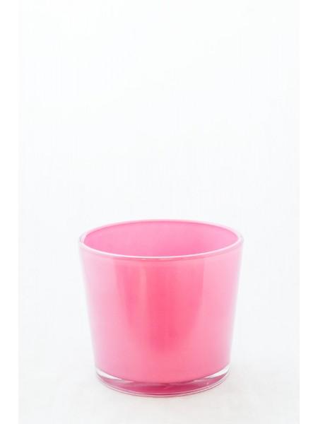 кашпо прозр.91-011-ф145/h125,цветное стекло