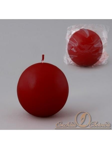 Свеча шар 55 цвет бордовый