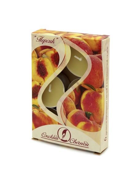 Свеча чайная 12 гр х 6 шт Персик ароматизированная
