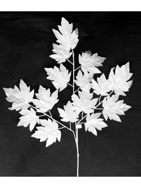 Ветка Клена крупный лист 65 см цвет белый HS-0046-1