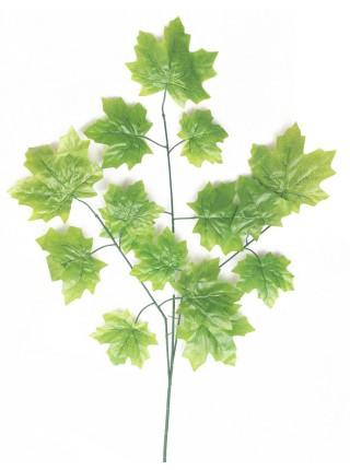 Ветка Клена крупный лист 65 см цвет зеленый HS-0046-1