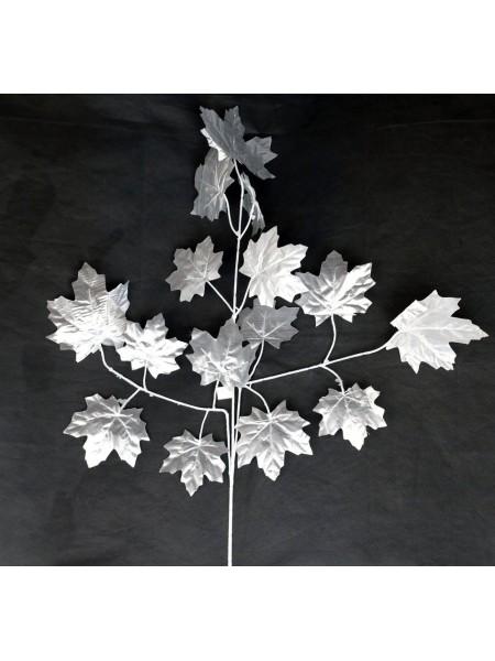 Ветка Клена крупный лист 65 см цвет серебро HS-0046-1