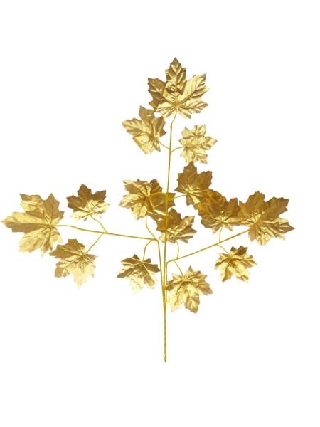 Ветка Клена крупный лист 65 см цвет золото HS-0046-1