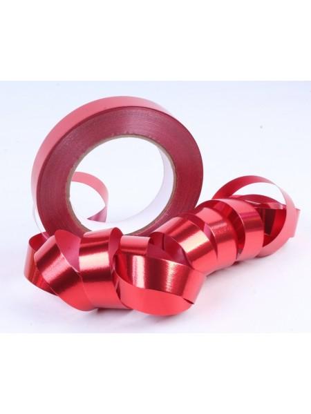 Лента металл 2 см х 50 ярд цвет красный М200