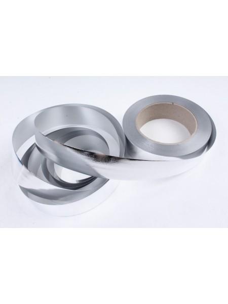 Лента металл 3 см х 50 ярд цвет серебрянный М346