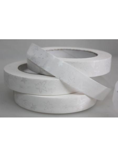 Лента простая 2 см х 50 м Летний цвет белый Р2136