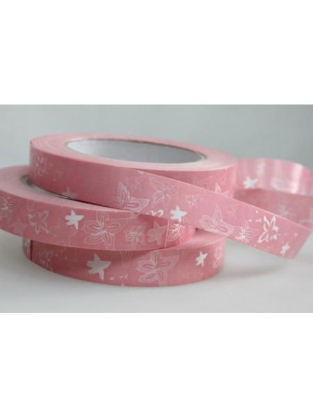 Лента простая 2 см х 50 м Летний цвет розовый Р2147