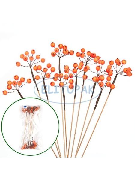 Вставка декоративная Рябина оранжевая 10 шт