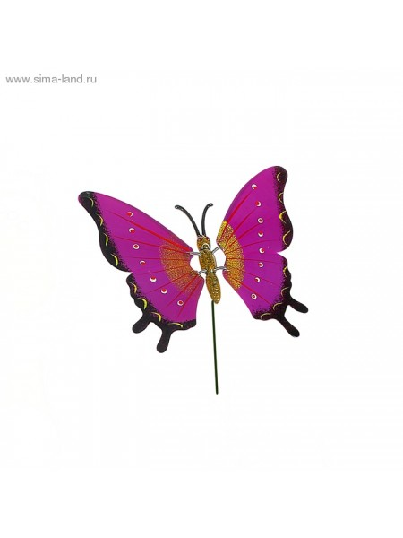 Декор садовый 60 см Бабочка Даная штекер цвет  МИКС