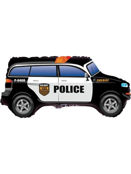 """Фольга шар фигура Полицейская машина 41""""/104 см"""
