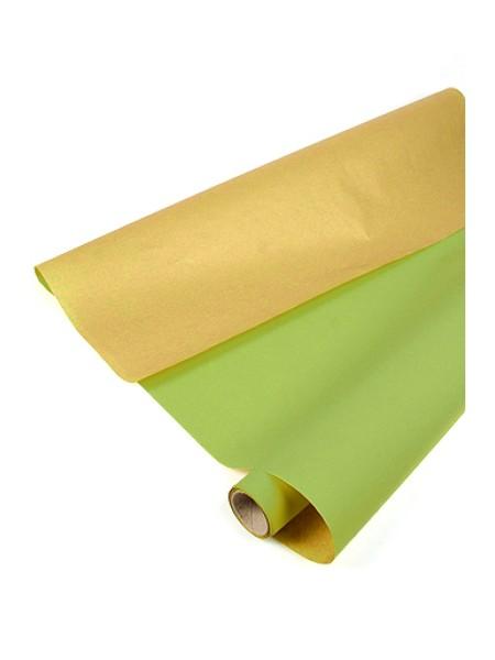 Бумага пергамент 02-40 на крафт основе 70 см х 10 м 40г/м2 цвет салатовый