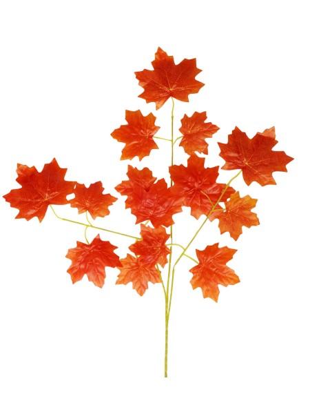 Ветка Клена крупный лист 65 см цвет оранжевый HS-0046-1
