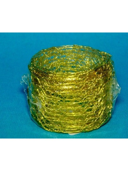 Сетка флористическая с ячейками 5 см х 2,5 м Золото
