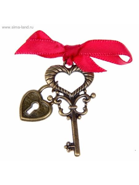 Ключ на подложке К моему сердцу 2х4 см