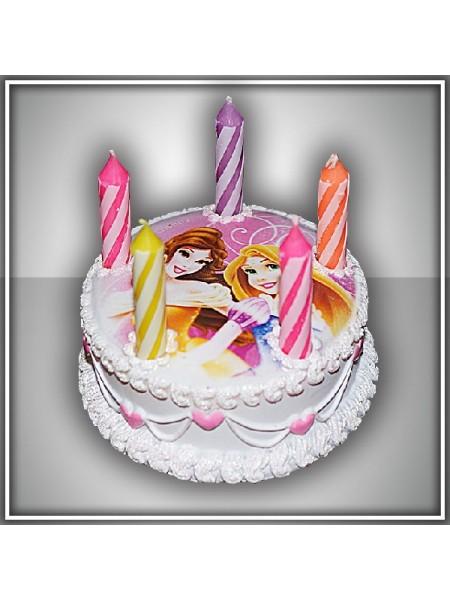 Свеча тортик Принцессы Дисней