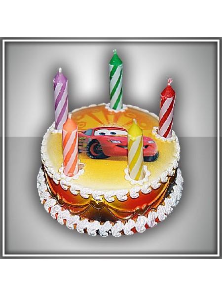 Свеча тортик Тачки Дисней