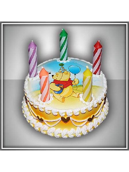 Свеча тортик Винни Дисней
