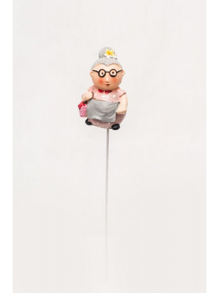 Фигурка на штекере Дед и Бабка 6 х 20 см 1штKXY14A5414