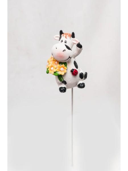 Фигурка на штекере Корова 6 х 20 см 1шт KXY14A5403