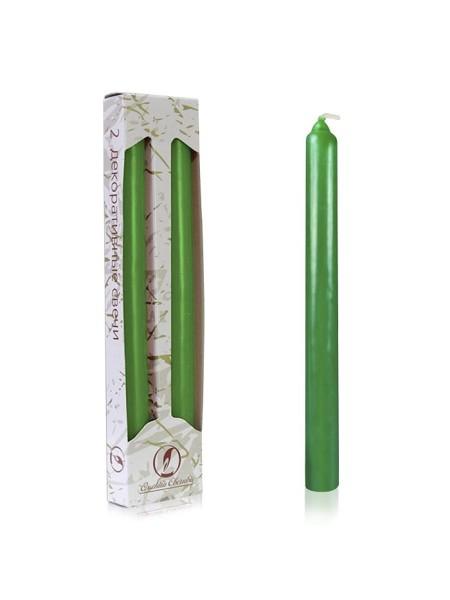 Классическая зеленая свеча упаковка 2 шт