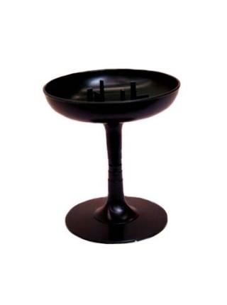 Чаша на подставке 13 х14 см пластик  цв Зеленый  Арт.4025  ст.88-1137зеленый