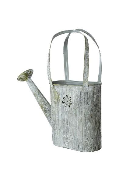 Кашпо металл лейка Цветы D27 х 9 х 14 х H27 см цвет серый арт 420730000807