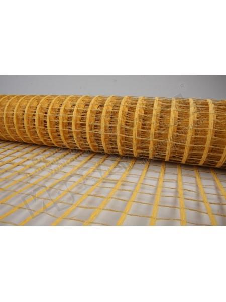 Сетка натуральная крупная ячейка 53  см х 5 м цвет желтый