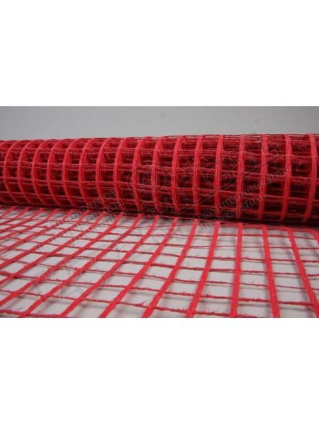 Сетка натуральная крупная ячейка 53  см х 5 м цвет красный