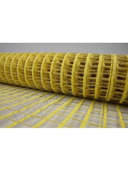 Сетка натуральная крупная ячейка 53  см х 5 м цвет лимонный