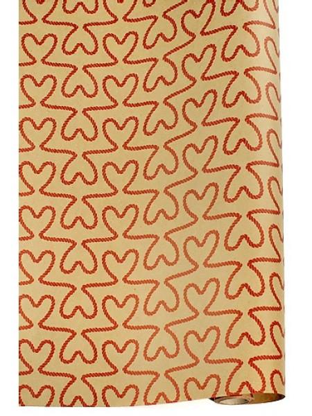 Бумага крафт 22/401-20 экошик любовные связи красные70 см х 10 м