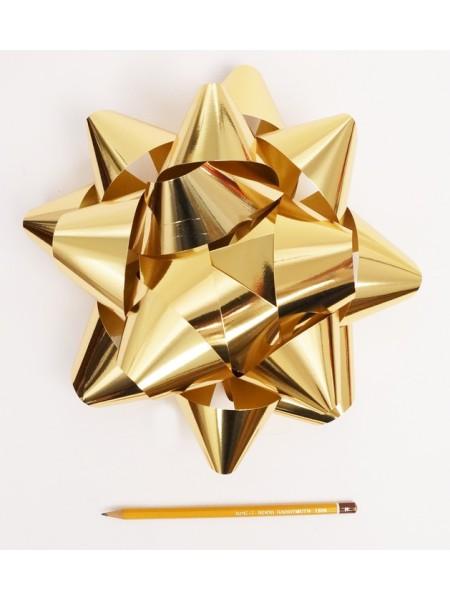 Бант Звездочка 25 см цвет золотой