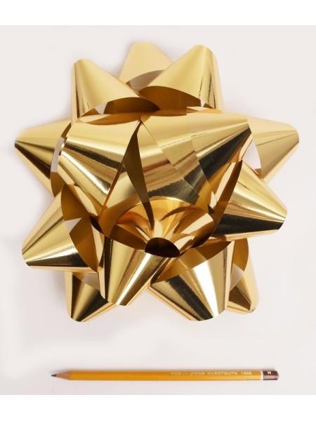 Бант Звездочка 20 см цвет золотой