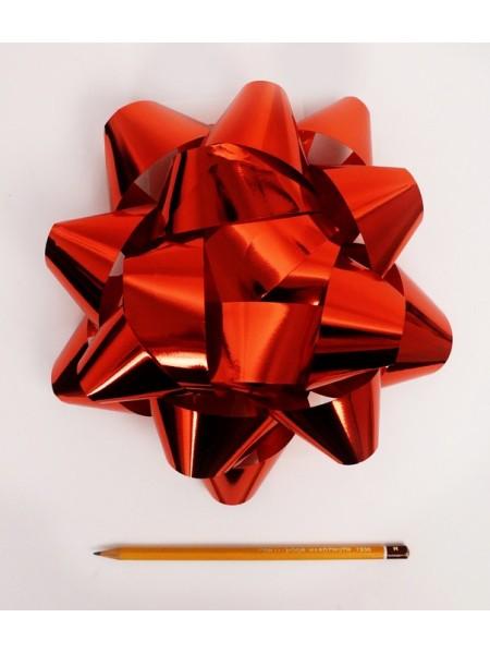 Бант Звездочка 20 см цвет красный