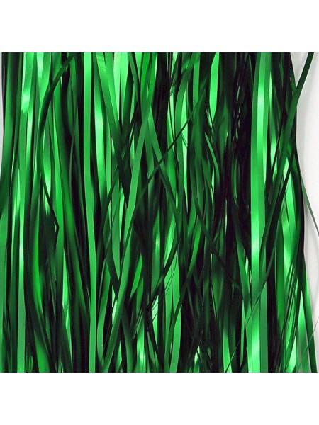 Дождик фольга-сатин 13 см х 1 м цвет зеленый HS 34-3