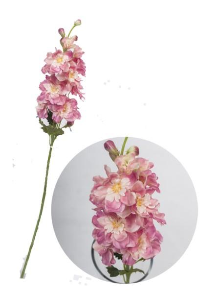 Дельфиниум 51см цветок искусственный цв Розовый