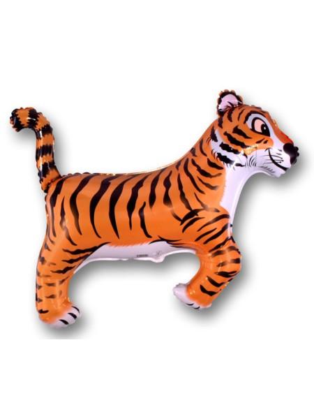 """Фольга шар Тигр черный 36""""/91 см 1шт Испания"""
