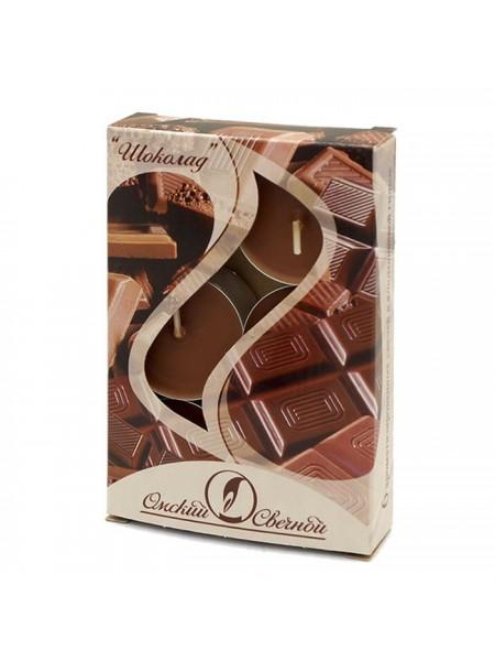 Свеча чайная 12 гр х 6 шт Шоколад ароматизированная