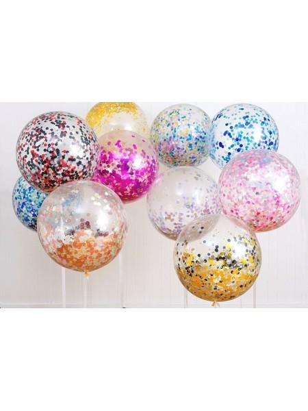 """Шар сфера Bubble 18""""/46 см с конфетти"""