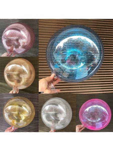 """Шар сфера Bubble 24""""/60 см с конфетти"""