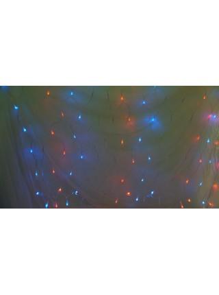 Электрогирлянда сетка Бегущие огоньки короткий 2,1м х 1,3м  лампочек цв Мульти