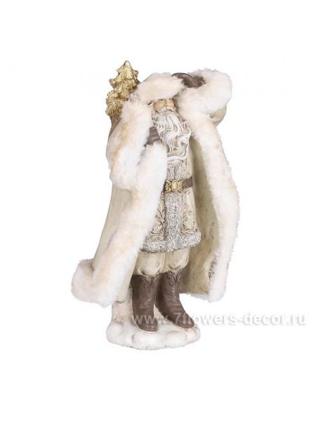 Фигура Санта Клаус 16 х 13 х Н30 см полирезин цвет кремовый новый год
