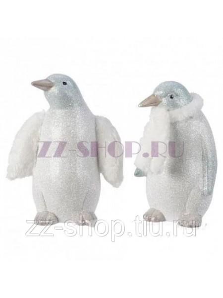 Фигура Пингвин 11/13 х 17,5/13,5 х Н10,5/22 см полирезин цвет белый новый год