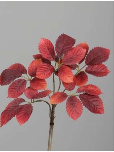 Ветка с листьями 40 см цвет красный арт. 28212-03