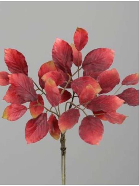 Ветка с листьями 47 см цвет красный арт. 28210-03