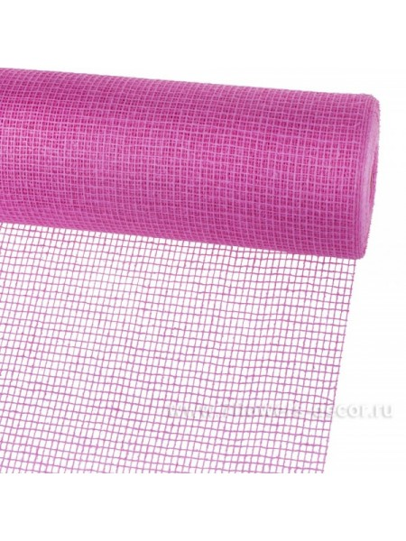 Джут 53 см х 9 м цвет Ярко-розовый 100-19