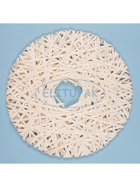Диск декоративный плетенный из шпона НЛО 50 см отбеленный