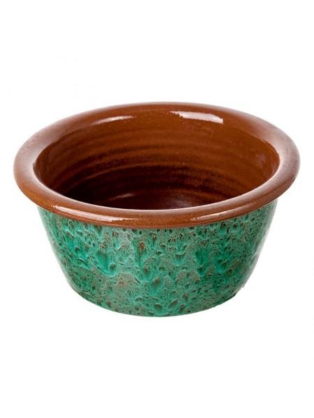 Кашпо керамика H11 х 23 см цвет зеленый LN 23GN