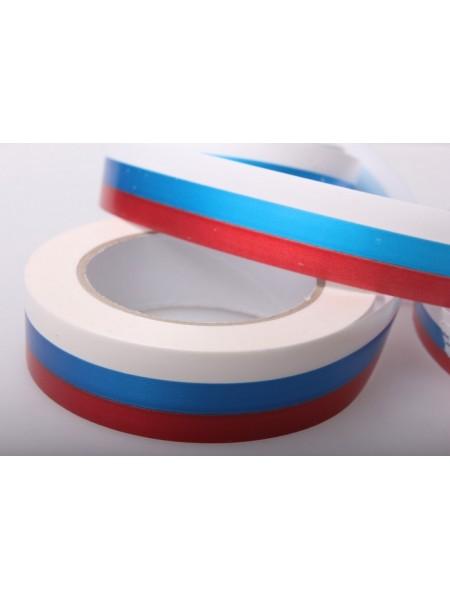 Лента простая 3см х 50м Российский флаг Р3051